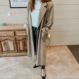 Vintage// long wool trench coat
